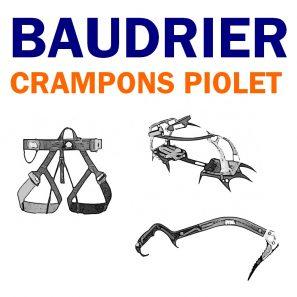 Baudriers, Crampons ...